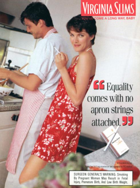 publicité Virginia Slims